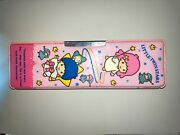Vintage Little Twin Stars Metal/tin Pencil Case Sanrio 1976 Made In Japan