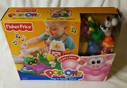 Fisher Price Pop-onz Pig And Cow Popand039n Tunes Farm Set New In Package C6311