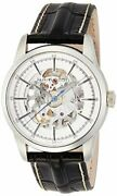 Hamilton Menand039s Timeless Classic Stainless Steel Swiss-automatic Watch With Leath