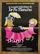 Fiendish Plot Dr Fu Manchu Peter Sellers Original Small French Movie Poster '80