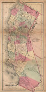 J. H. Coltonand039s Map Of California 1864 Old Antique Vintage Plan Chart