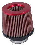 Kandn Air Filter Round Rev Taper 6 Base 5 Height 5.25 Top 3 Id Flange Red Rr-3001