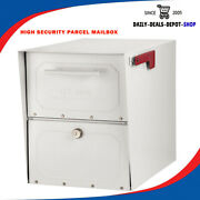 Parcel Mailboxes Post Mount Galvanized Steel Classic Locking High Security Lock