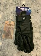 Triumph Legend Collection Steve Mcqueen Motorcycle Racing Leather Gloves Rare