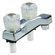 Home Plus 4224cp Chrome Non-metallic Clear Acrylic Two Handle Lavatory Faucet