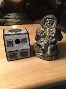 Lot Of 2 Inuit Soapstone Carvings