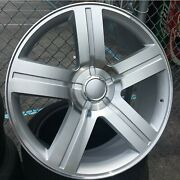 26 Inch Silver And Machined Texas Edition Rims Wheels Replica G03 258 22 24 28