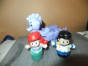 Fisher-price Little People 2012 Mermaid Arieland039s Castle Sea Horse+ Ariel And Eric