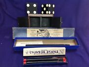 Vintage Magic Trick Lot Petrie Lewis Vanishing Wand Dice And Box Chinese Sticks