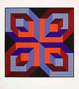 Victor Vasarely - Jalons 1 - Serigraph Signed Limited Edition