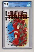 Image Comicand039s Department Of Truth 1 Peach Momoko Red Foil Cover Cgc 9.8