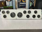 Used Outboard Faria Gauge Instrumental Panel Assembly For Twin Engines Set Up