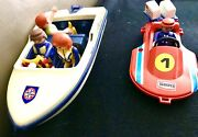 Playmobil Two Boat + 4 People On Board Twister Speed Perfect Vintage Toys 1970s