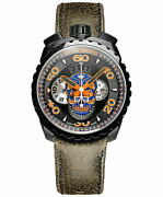 Bomberg Bolt-68 Blue Skull Limited Edition Bs45chpba.051.3 Menand039s Used Watch