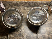 1930 1931 Ford Model A Headlight Stainless Buckets Pair Lh Rh Lights Sealed Beam