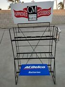 Ac Delco Battery Metal Garage Or Service Station Display Stand New