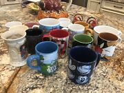 Awesome Disney Lot Of 18 Mugs Collectible, Mickey, Minnie, Pluto, Discontinued
