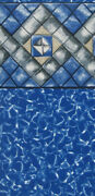 25 X 48 Decagon Manor Beaded Swimming Pool Liner For Esther Williams - 25 Gauge