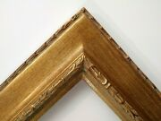 24 X 30 Std Picture Frame 3 Wide Embossed Gold Reverse W/ Glazing / Backing