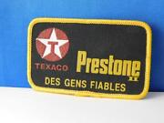 Texaco Prestone People You Can Trust Vintage Patch Oil Gas Service Rare French