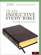 The New Inductive Study Bible Esv Leather Precept Ministries Inte