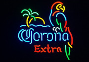 New Corona Extra Parrot Palm Tree Red Lamp Beer Man Cave Neon Light Sign 32x24