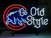 New Chicago Cubs Old Style Beer Man Cave Neon Light Sign 32x24