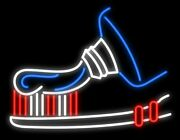 New Tooth Tooth Paste Tooth Brush Real Glass Neon Sign 32x24 Beer Lamp Light