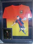 Lionel Messi Autographed Jersey Original And Hand Painted