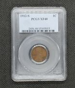 1912-s Lincoln Wheat Cent   Pcgs Xf40