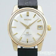 Seiko Grand Seiko Self Data 2nd 5722-9011 Watch Used 67and039s Menand039s Manual Silver
