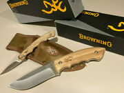 Browning Perfect Pair Fixed Blade Hunting Skinning Knife Set W/sheath 2 Sets