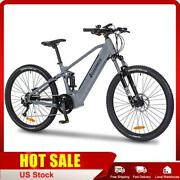Full Suspension Ebike Electric Bike With 500w / 750w Mid Drive Motor Trail