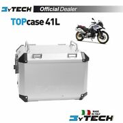 Top Case Silver Mytech Raid 41 L With Plate Fastening Bmw F850gs F750gs