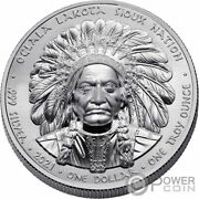 Sitting Bull Proof 1 Oz Silver Coin 1 Sioux Nation 2021