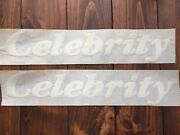 Celebrity Boat Side Stickers Decals White Nos Vintage 17 3/4and039and039 Pair Original New
