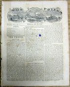1859 Honolulu Hawaii Newspaper With Local Coverage Of Pacific Whaling Fleet