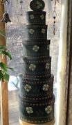 R.a. Lang Floral Trio 7-oval Bob's Nesting/stacking Boxes Primitive Color