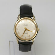 Vintage 14k Yellow Gold Gruen Autowind 34mm Automatic Menand039s Watch