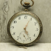 Ancre Swiss Pocket Watch 15 Rubis Lille 1902 Porcelain Dial