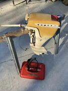 Vintage 1960's Scott Mccullough Outboard Boat Motor 7.5 Hp And Scott Gas Tank