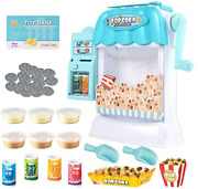 Ainek Toy Popcorn Maker - Hand Cranked Popcorn And Mini Vending Machine Toy Gift
