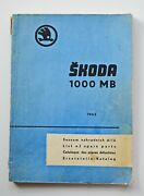 Vintage Car Skoda 1000 Mb List Of The Spare Parts 1965 A4 184 Pgs