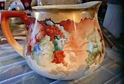 Limoges France Lemonade/cider Pitcher Fruit Hand Painted Mint Condition Wg And Co
