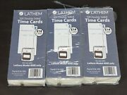 Lot Of 3 Lathem E14- 7 100 Time Cards Two Sides Each Lthe14100 092447002617