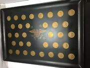 Vintage Couroc Of Monterey Tray Presidential 34 Coins