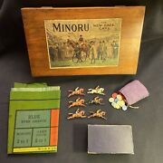 Antique Minoru The New Race Game Horse Racing Lead Figures F.a.o. Schwarz