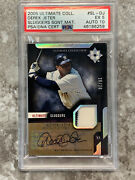 2005 Ultimate Collections Sluggers Derek Jeter Card 20/20 Psa Auto 10