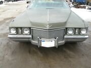 1972 Cadillac Deville Calais Fleetwood Front Bumper Assembly With Brackets