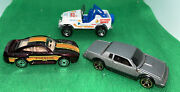 Hot Wheels 3 Car Lot Action News Jeep Porsche 959 And Silver Buick Grand National